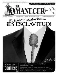 Periodico anarquista El Amanecer, Enero 2013