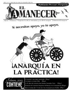 Periodico anarquista El Amanecer, Febrero 2013