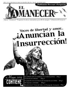 Periodico anarquista El Amanecer, Mayo 2013