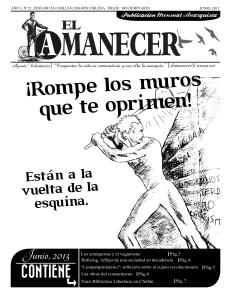 Periodico anarquista El Amanecer, Junio